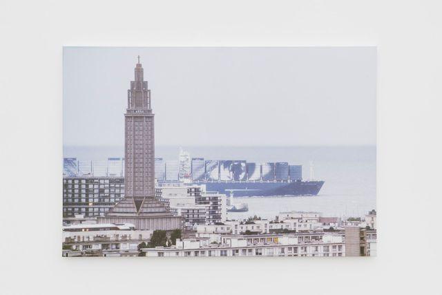 , 'Women Are Heroes, Elizabeth Kamanga on sea, Quadrichromie, Le Havre, France,' 2018, Perrotin