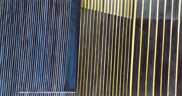 , 'Mini Collage Blue and Gold, NYC,' 2017, Jonathan Ferrara Gallery