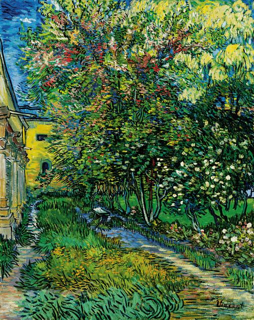 Vincent van Gogh, 'The garden of the asylum at Saint-Rémy', May 1889, Painting, Oil on canvas, Kröller-Müller Museum