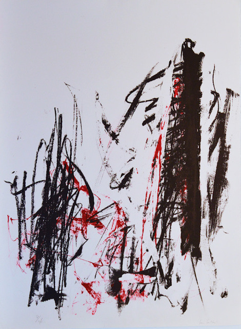 Joan Mitchell, 'Arbres (Black and Red)', 1991-1992, F.L. Braswell Fine Art