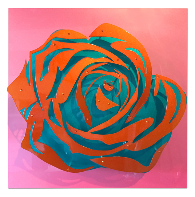 , 'Candy Rose - Orange on Pink,' 2017, FP Contemporary