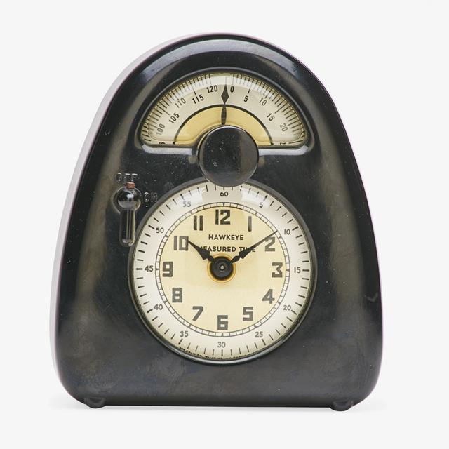 Isamu Noguchi, 'Brown clock and kitchen timer, La Porte, IN', ca. 1932, Rago