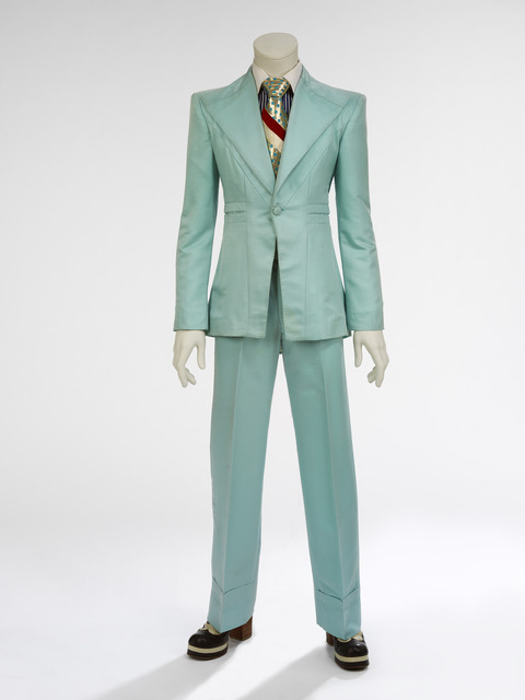 , 'Ice-blue suit. Designed by Freddie Burretti for the 'Life on Mars?' video,' 1972, Art Gallery of Ontario (AGO)