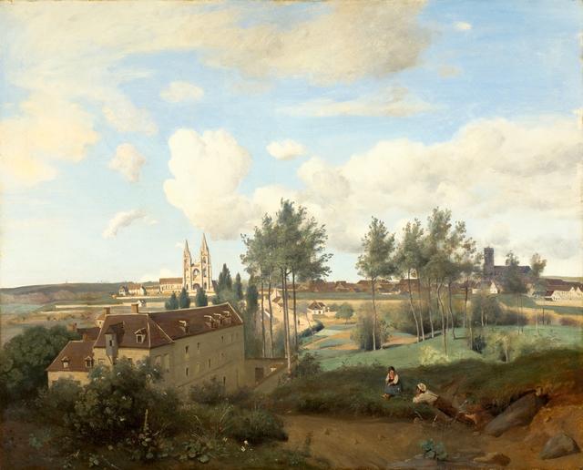 Jean-Baptiste-Camille Corot, 'Soissons seen from Mr. Henry's factory', 1833, Kröller-Müller Museum
