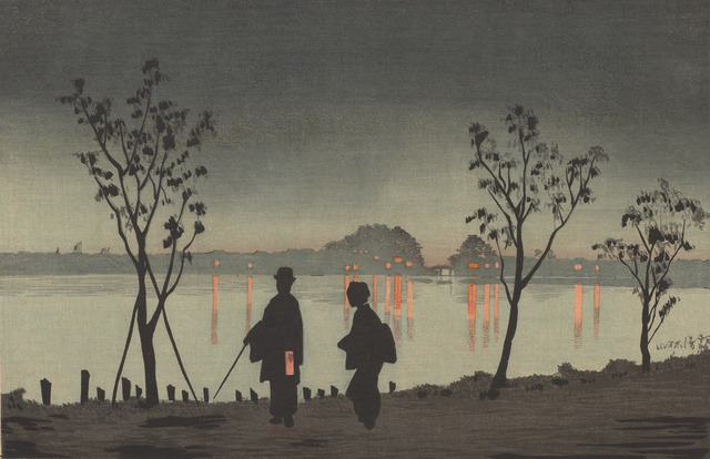 , 'Sumida River by Night,' Meiji era-1881, Smithsonian Freer and Sackler Galleries