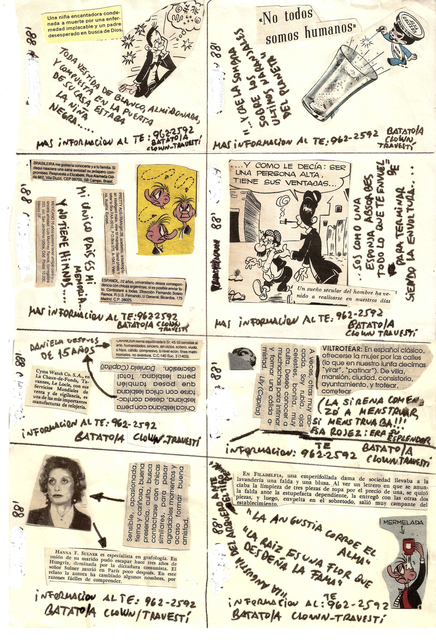 ", 'Untitled, (Flyer/ collage for ""Freedom Disco"" and ""Crash Disco""),' 1988, Cosmocosa"