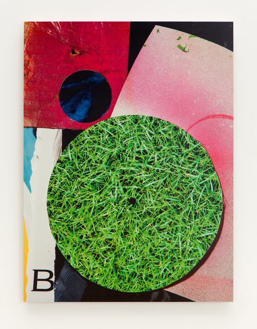 ", '""B"" collage,' 2015, Erin Cluley Gallery"