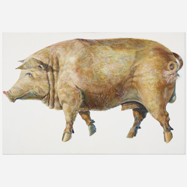 Don Nice, 'Pig', 1969, Painting, Oil on canvas, Rago/Wright