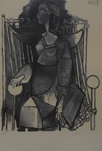 Pablo Picasso, 'Femme Assise Dans Fauteuil Tresse', 1979-1982, Golden Eagle Art Gallery