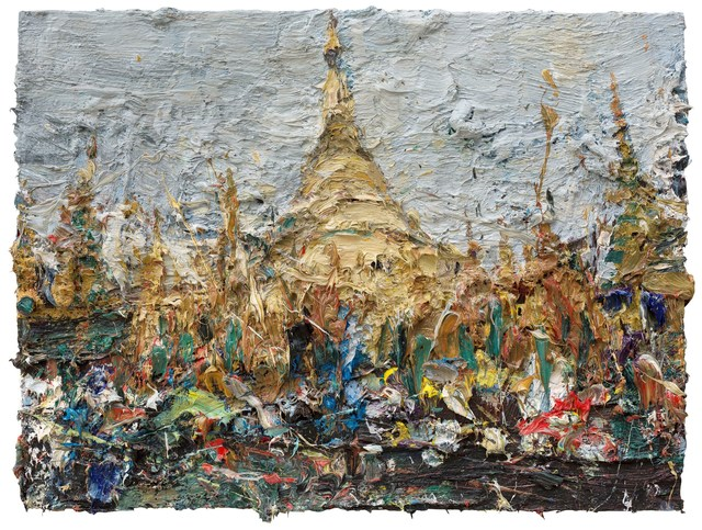 , 'Shwedagon Pagoda,' 2015, Contemporary by Angela Li