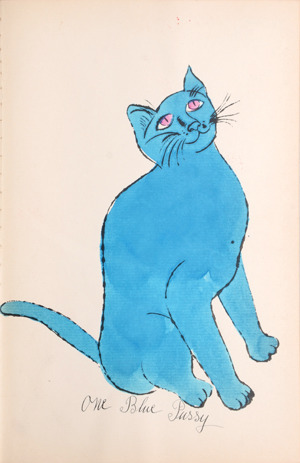 , 'One Blue Pussy [Sitting blue cat with pink eyes],' 1954, Tanya Baxter Contemporary