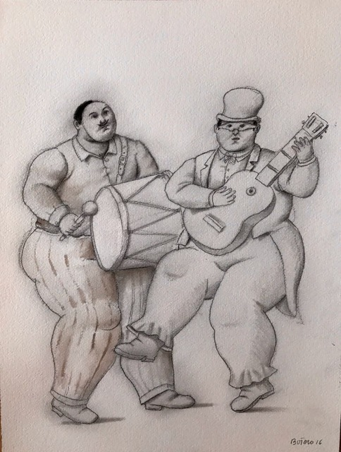 Fernando Botero, 'Musicians in the Carnaval', 2016, Ode to Art