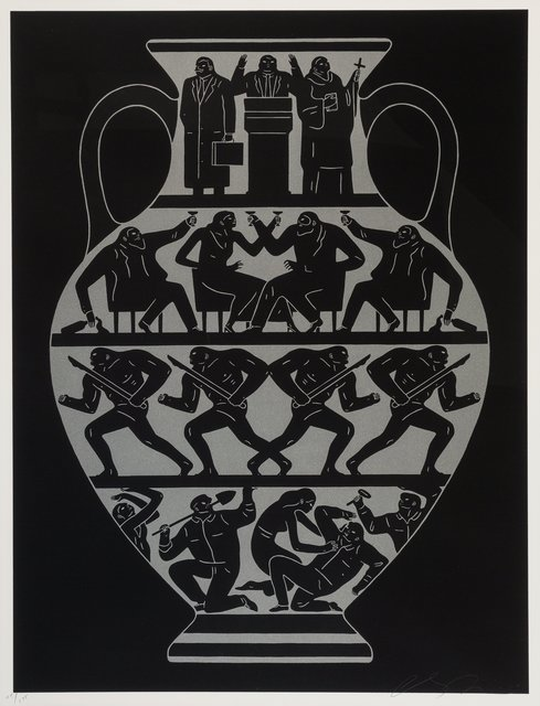 Cleon Peterson, 'Trump 2017 (Platinum Black)', 2017, Print, Screenprint in colors on wove paper, Heritage Auctions