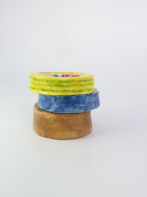 , 'Parceltape maskingtape stribed tape,' 2015, V1 Gallery