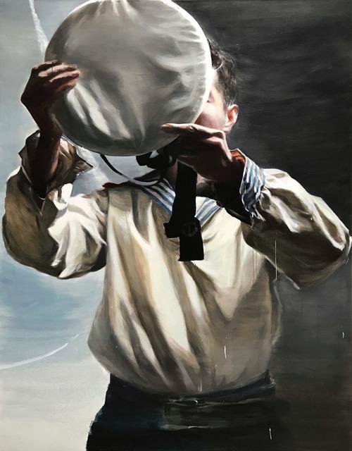 , 'The Cap Donning Man,' 2018, Gagosian