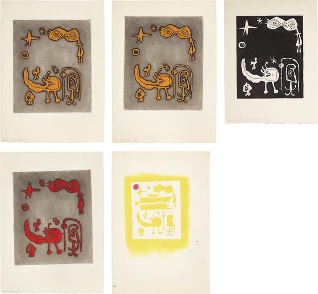 Joan Miró, 'Ruthven Todd Album, An Alien World for Dolores Miró: five impressions', 1947, Phillips