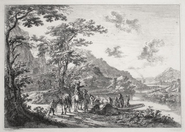 , 'View of the Tiber with Country Landscape,' ca. 1645, R. S. Johnson Fine Art