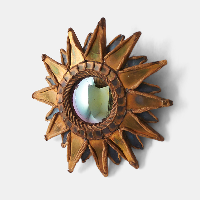 """, 'Small """"Pointed Sun"""" Mirror by Line Vautrin,' 1955-1965, Almond & Co."""