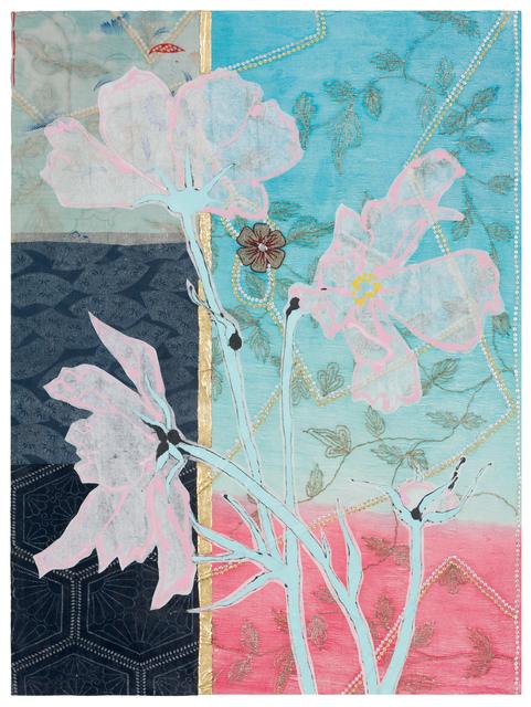 , 'Three Pink Cosmos,' 2017, DC Moore Gallery