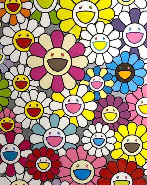 Takashi Murakami, 'A Little Flower Painting: Pink, Purple And Many Other Colors', 2018, Fineart Oslo