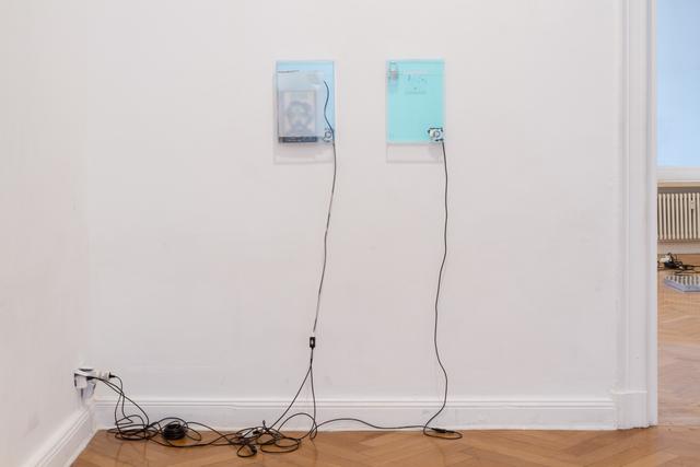 , 'dust, scraper, fan .4 (machines who think),' 2015, Barbara Seiler