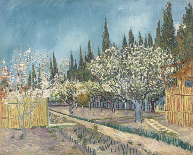 , 'Orchard in Blossom, Bordered by Cypresses,' 1888, National Gallery of Victoria