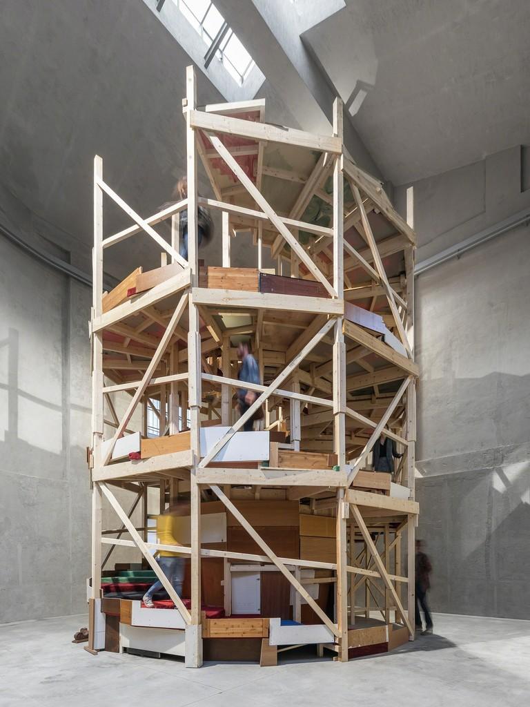 "View of the exhibition ""Slight Agitation 3/4: Gelitin"" Fondazione Prada, Milan 20 October 2017 - 22 April 2018 POKALYPSEA-APOKALYPSE-OKALYPSEAP Fumami, 2017 Photo Delfino Sisto Legnani and Marco Cappelletti Courtesy Fondazione Prada"