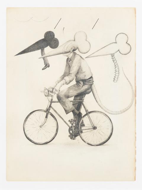 , 'Flat Black Rat Bike No Pedestrian Nerve Column,' 2015, Fisher Parrish Gallery