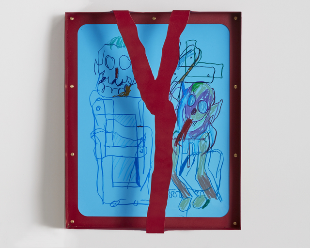 """, '""""Untited (Red)"""" framed drawing on paper,' 2018, R & Company"""