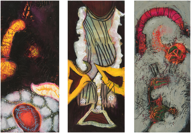, 'Planted Heart, Negligee of Snow, An Amulet for a da Vinci (From left to right),' 2005, 2004, 2002, 6 (From left to right), Hollis Taggart