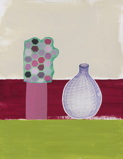 , 'Drawing for Violet Bottle on Three Colors,' 2014, Marisa Newman Projects