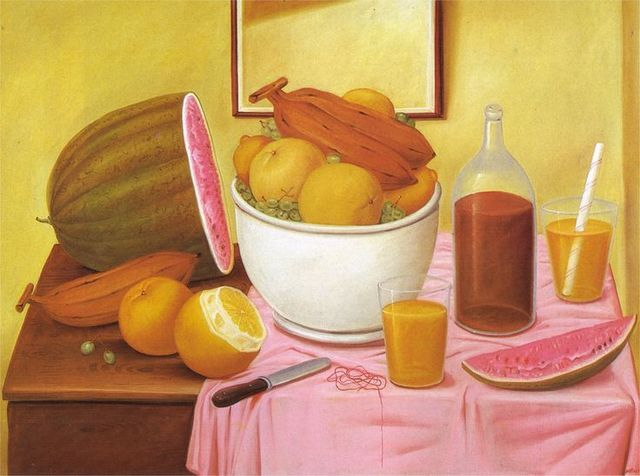 , 'Still-life with orange juice,' 1987, Galeria El Museo