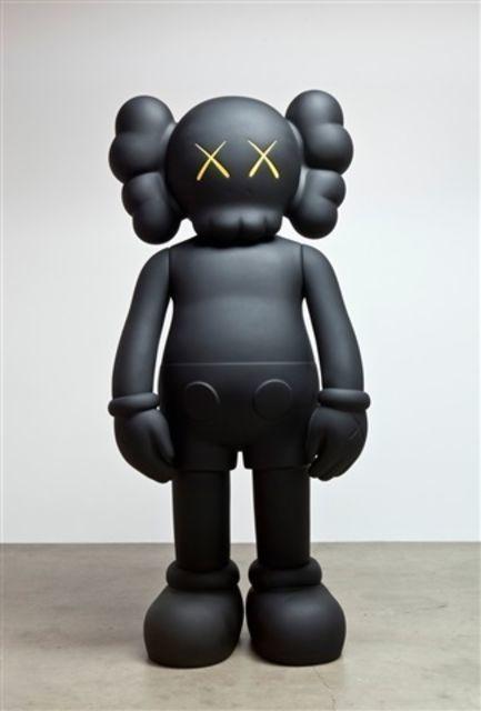 KAWS, '4 FOOT COMPANION (BLACK)', 2009, Sculpture, Fiber-reinforced plastic, Marcel Katz Art