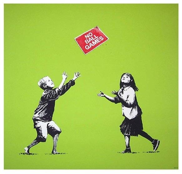Banksy, 'No Ball Games (Green)', 2009, Prescription Art