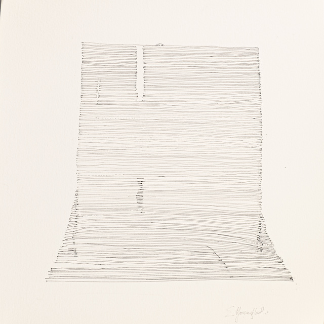 Elizabeth Youngblood, 'Butte 2', 2020, Drawing, Collage or other Work on Paper, Ink on paper, M Contemporary Art