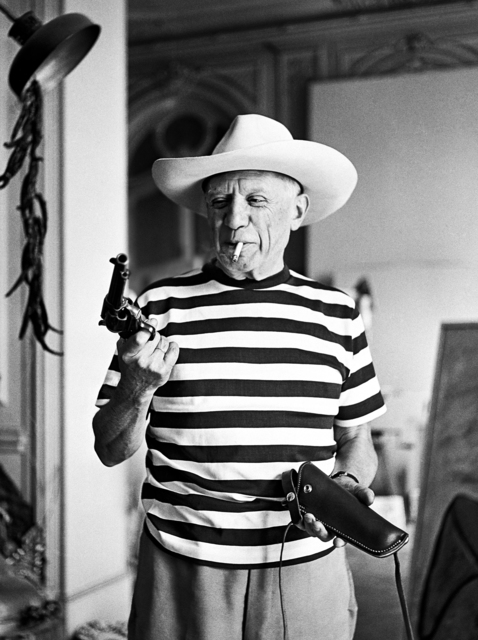 , 'Picasso with the revolver and hat gifted by Gary Cooper,' 1958, Suite 59 Gallery
