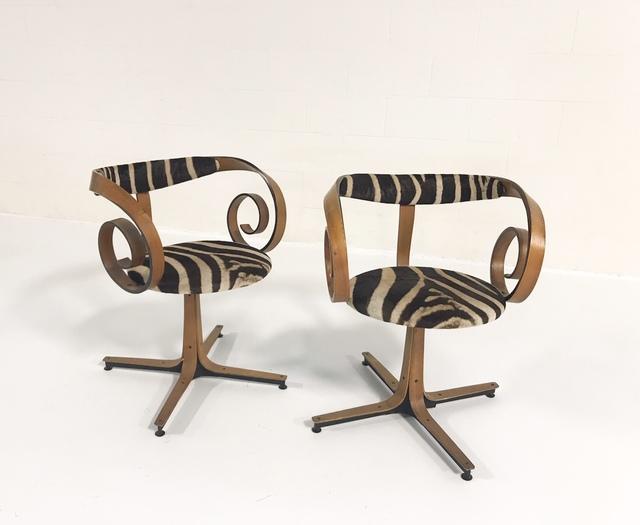 George Mulhauser, 'Sultana Chairs Restored in Zebra Hide', ca. 1965, Forsyth