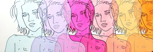 , 'Blue, Purple, Magenta, Pink, Peach, Orange,' 2014, Artspace Warehouse