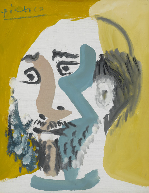 Pablo Picasso, 'Tête d'Homme Barbu V', 1965, Painting, Oil on canvas,  M.S. Rau
