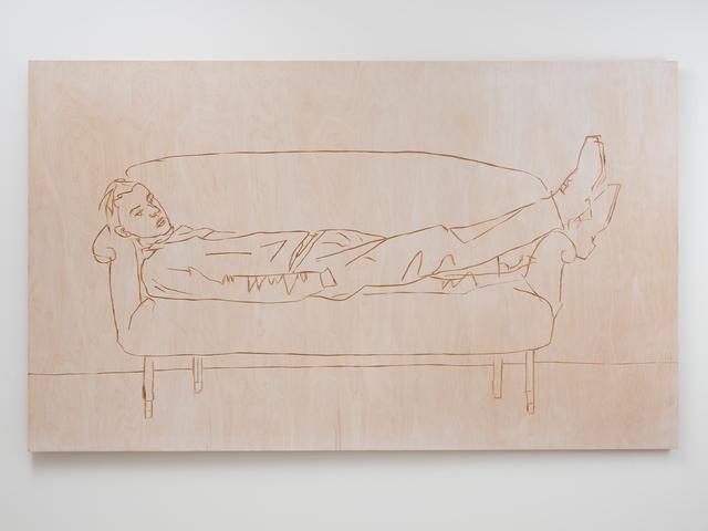 Stephan Balkenhol, 'Man on Couch', 2019, Galerie Forsblom