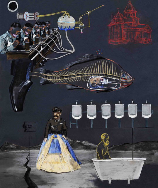 , 'Freud, Fish and Butterfly,' 2012, Galerie Paris-Beijing