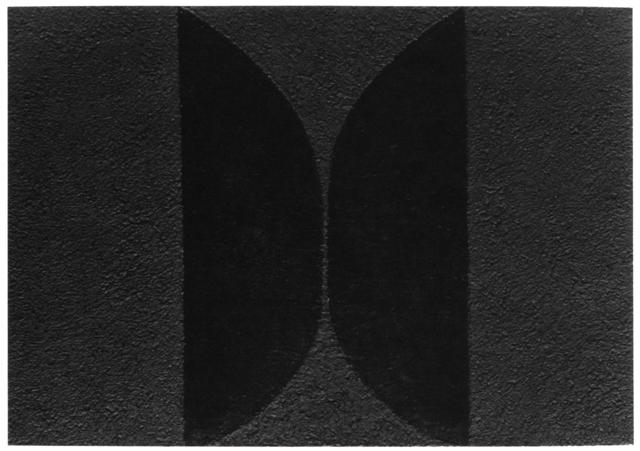 , 'Mixoblack 10,' 1990, Mixografia