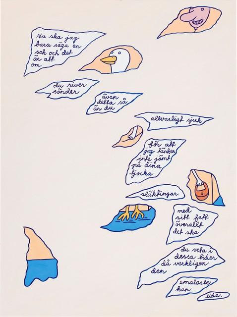 , 'Fragment av ett brev (Fragment of a letter),' 1992, CFHILL