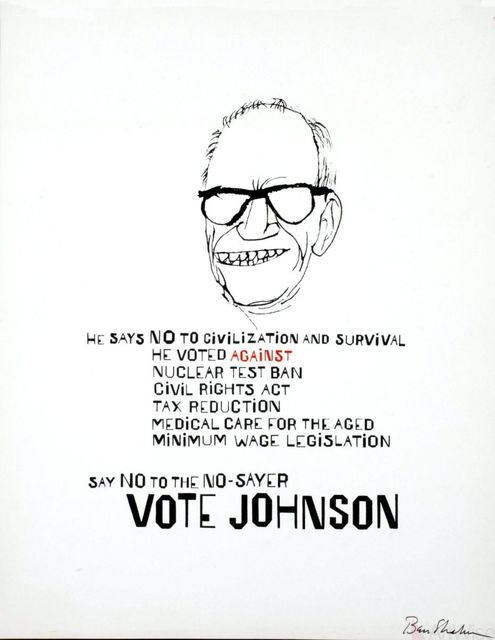 Ben Shahn, 'Vote Johnson', 1964, Print, Silkscreen, ArtWise