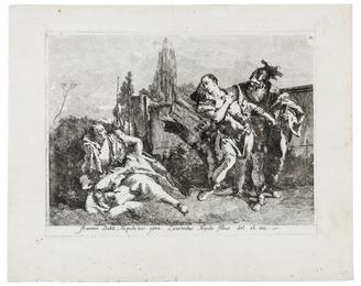 Rinaldo abandoning Armida, after Giovanni Domenico Tiepolo