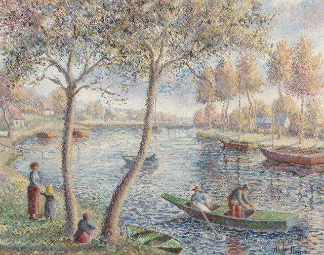 Hugues Claude Pissarro, 'Dimanche d'un bel octobre au bord de l'Orne', Painting, Oil on canvas, Heritage Auctions