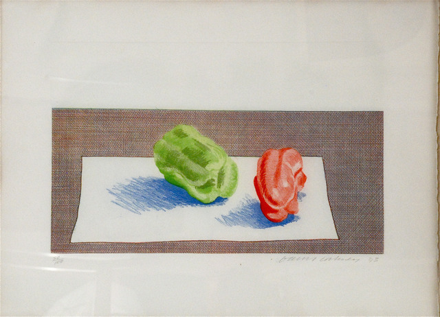 David Hockney, 'Two Peppers', 1973, Sragow Gallery