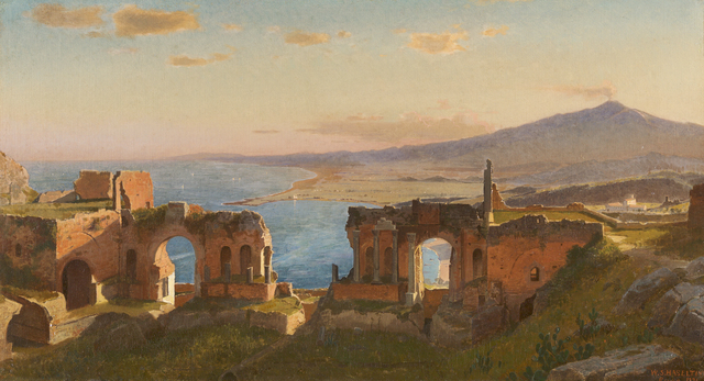 , 'View of Taormina,' 1871, Debra Force Fine Art