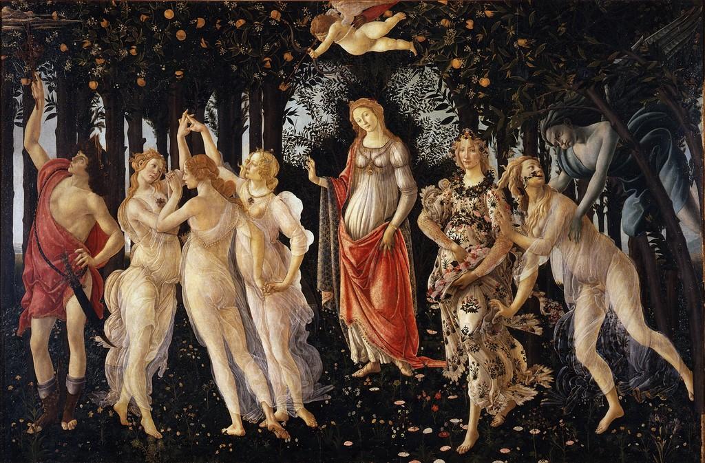 Sandro Botticelli, 'La Primavera (Spring),' 1477, Galleria degli Uffizi