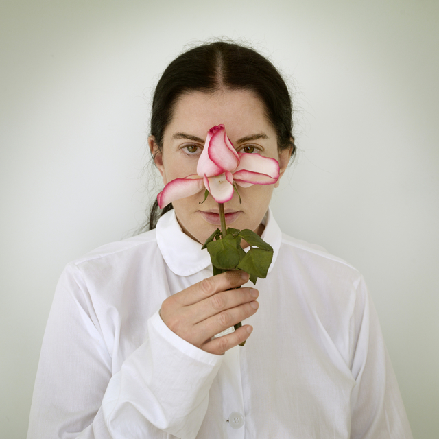 , 'Artist Portrait with a Rose (from the series: Places of Power),' 2013, Galerie Krinzinger